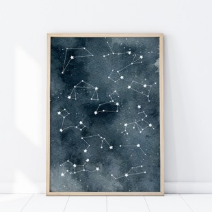 Plagát na stenu s motívom Hviezdnej sústavy
