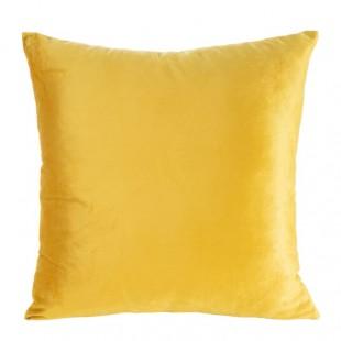 Krásna žltá obliečka na dekoračný vankúš