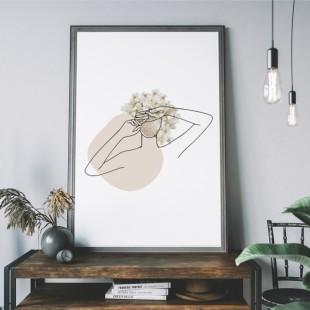 Plagát na stenu v prírodných farbách - Žena
