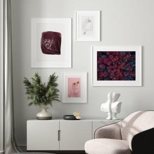 Plagát na stenu s motívom prírody v bordových odtieňoch