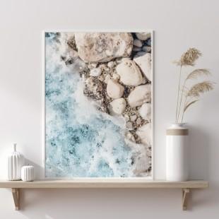 Plagát na stenu s motívom Kamenná pláž