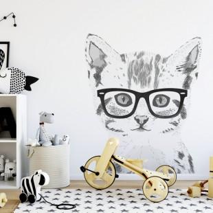 Detská nálepka na stenu s motívom mačiatka