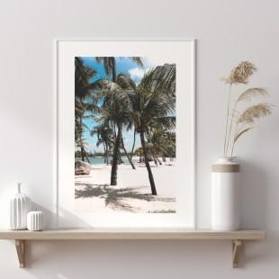 Plagát na stenu s motívom Palmy na pláži