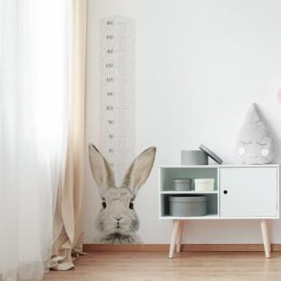 Detská nálepka na stenu s metrom a zajačikom Štefanom