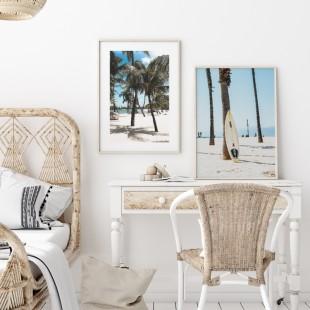 Plagát na stenu s motívom Surf na pláži