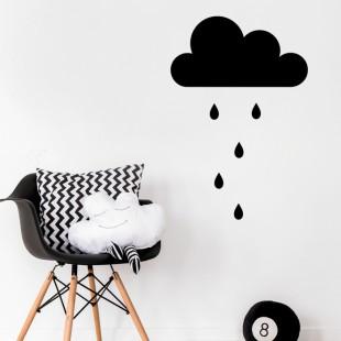 Detská nálepka na stenu s motívom mraku a dažďových kvapiek