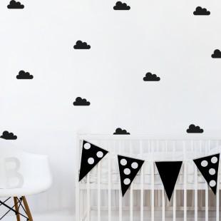Detská nálepka na stenu s motívom mráčikov
