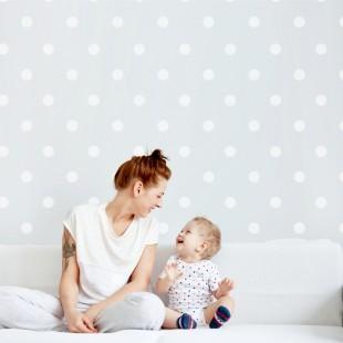 Detské nálepky na stenu s motívom bodiek