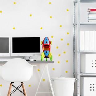 Detské nálepky na stenu s motívom malých hviezd
