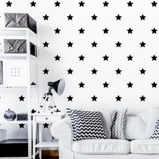 Detské nálepky na stenu s motívom hviezdičiek