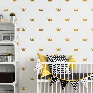 Detské nálepky na stenu s motívom kráľovskej koruny