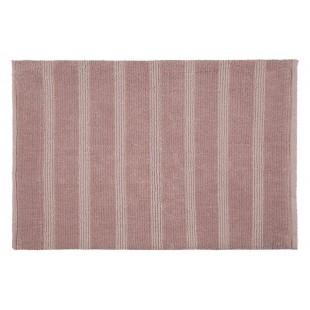 Kúpeľňový ružový mäkký koberček