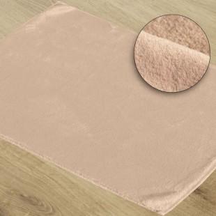 Jemno ružový mäkký kúpeľňový koberček