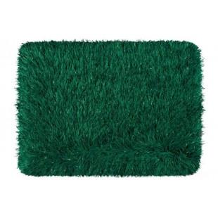 Luxusný zelený kúpeľňový koberček