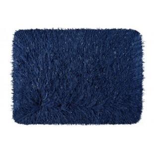 Luxusný modrý kúpeľňový koberček