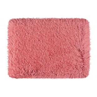 Luxusný ružový kúpeľňový koberček