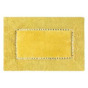 Žltý kúpeľňový koberček s kryštálikmi