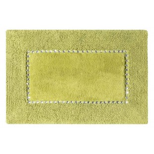 Zelený kúpeľňový koberček s kryštálikmi