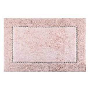 Ružový kúpeľňový koberček s kryštálikmi