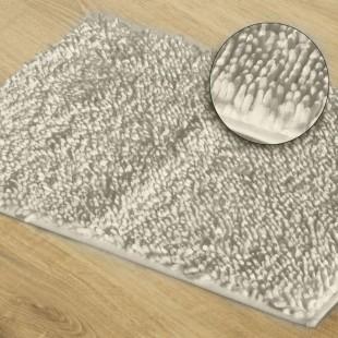 Biely kúpeľňový koberček