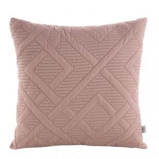Jemne rúžová obliečka na dekoračný vankúš s krásnym prešivaním