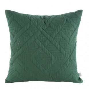 Zelená obliečka na dekoračný vankúš s krásnym prešívaním