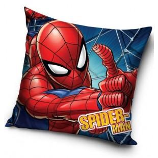 Červená detská obliečka na dekoračný vankúš s motívom Spiderman