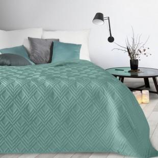 Tyrkysový mäkký prehoz na posteľ