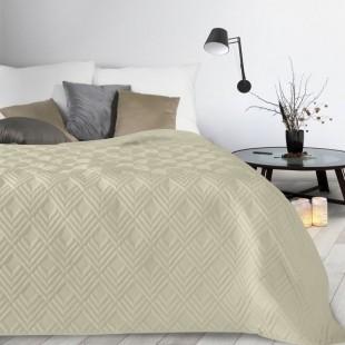 Krémový mäkký prehoz na posteľ
