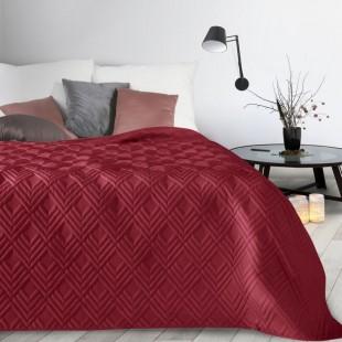 Bordový mäkký prehoz na posteľ