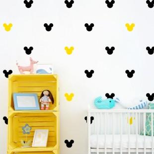 Detské nálepky na stenu s motívom Mickey mouse