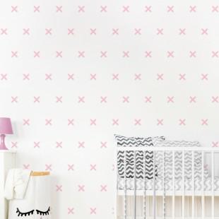 Detské nálepky na stenu so vzorom + alebo X