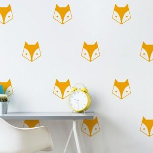 Detské nálepky na stenu s motívom líšky