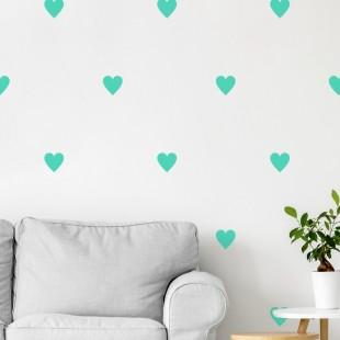 Detské nálepky na stenu so srdiečkovým motívom