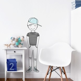 Detská nálepka na stenu s kúzelným Leom