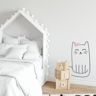 Detská nálepka na stenu s motívom mačičky Henrietky