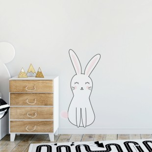 Detská nálepka na stenu s motívom králika Olivera