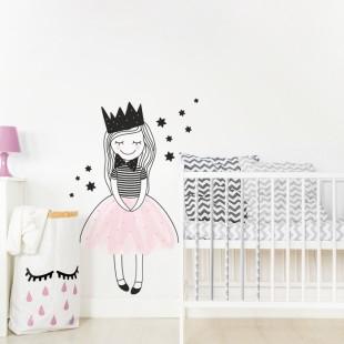 Detská nálepka na stenu s motívom princeznej Amálky