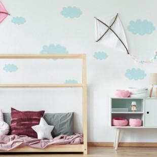 Detské nálepky na stenu s motívom pastelových mrakov