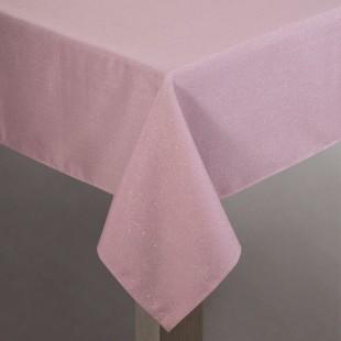Ružový dekoračný obrus na stôl s jemným leskom