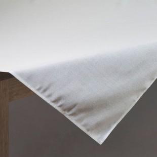 Biely jednofarebný dekoračný obrus