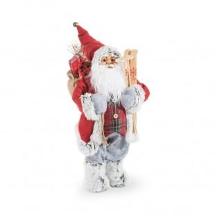 Červený mikuláš s darčekmi
