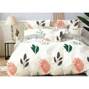 Krémová posteľná obliečka zo saténovej bavlny
