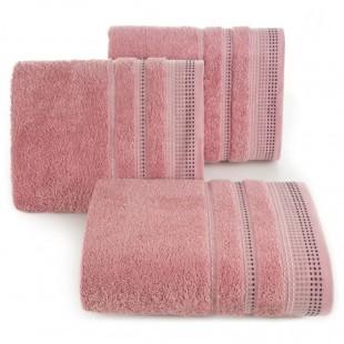 Pudrovo rúžová osuška z česanej bavlny