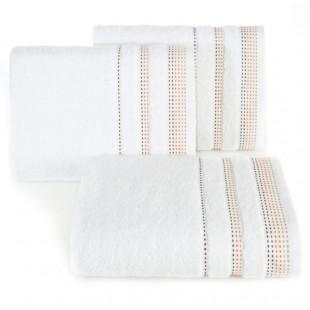 Biela jednofarebná osuška z česanej bavlny
