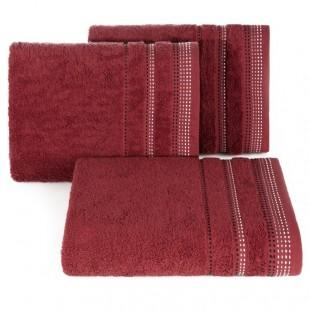 Bordová jednofarebná osuška z česanej bavlny