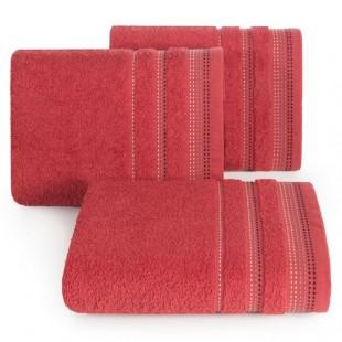 Červená jednofarebná osuška z česanej bavlny