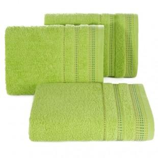 Jasno zelená jednofarebná bavlnená osuška