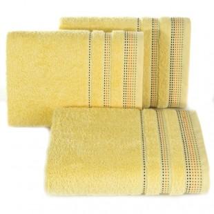 Žltý jednofarebný uterák z česanej bavlny