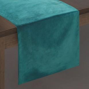 Tyrkysový dekoračný behúň na stôl